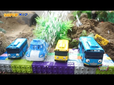 Rescue Tayo Bus From Dinosaur | Dinosaurs and Car toys Kids Video