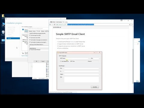 Windows Server 2016 - SMTP Configure And Test (How To Tutorial)