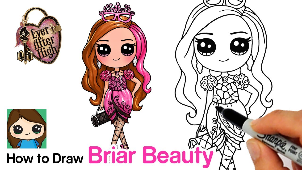 How to Draw Briar Beauty 🌹Ever After High