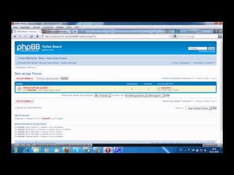 HowTo eigenes phpbb3 Forum erstellen part 2