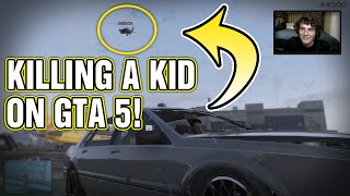 GTA 5 Online - KILLING A KID on GTA 5! (Funny Deaths & Kills!)