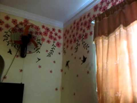 Dibujo de flores en pared youtube - Dibujos para paredes ...