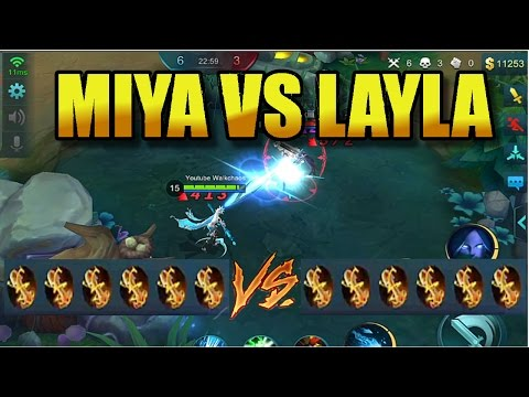 Mobile Legends: MIYA vs LAYLA !! (250% Att Speed) Who's the Strongest Marksman?