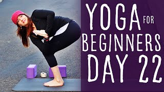 30 Minute Yoga For Beginners 30 Day Challenge Day 22 with Fightmaster Yoga