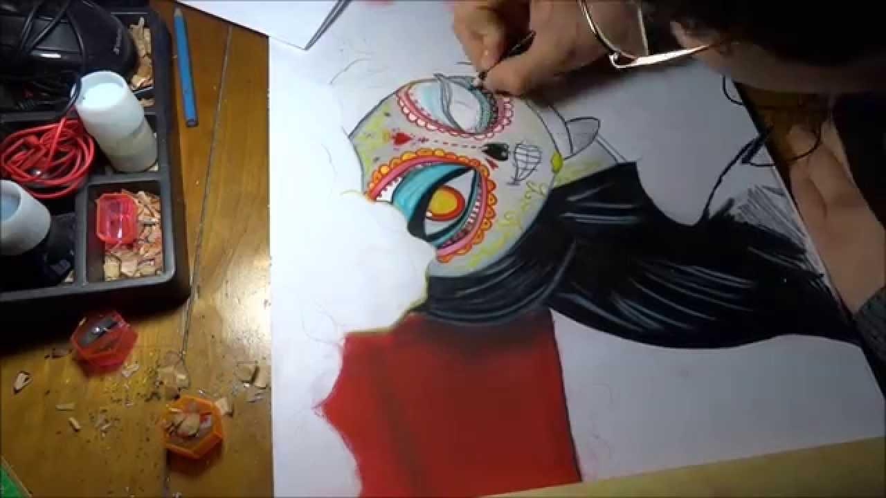 Dibujando A La Catrina De El Libro De La Vida Por Charlie Youtube