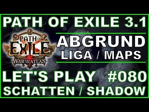 Let's Play PATH OF EXILE - Abgrund Liga #080 UNIQUE Dünen - Map [ deutsch / german ]