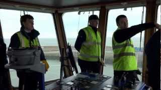 Sea Truck 'Clipper Panaroma' maneuvering in docks from the bridge - Part 1