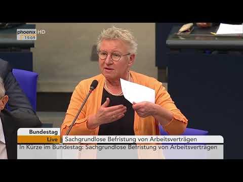 Bundestagsdebatte zur sachgrundlosen Befristung von Arbeitsverträgen am 22.02.18
