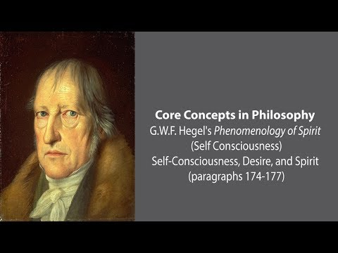 G.W.F. Hegel on Self-Consciousness, Desire, and Spirit - Philosophy Core Concepts
