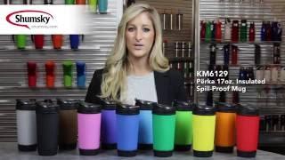 17 oz. Perka Insulated Mug w/ Flip Up Lid - KM6129