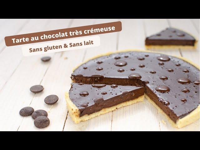 🍫 Tarte au CHOCOLAT SANS GLUTEN vraiment crémeuse