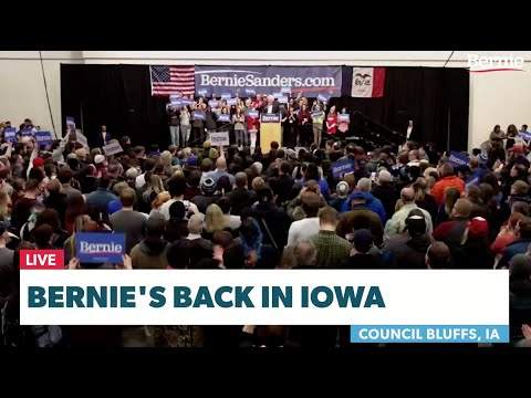 Bernie Returns to Iowa to Continue the Political Revolution.