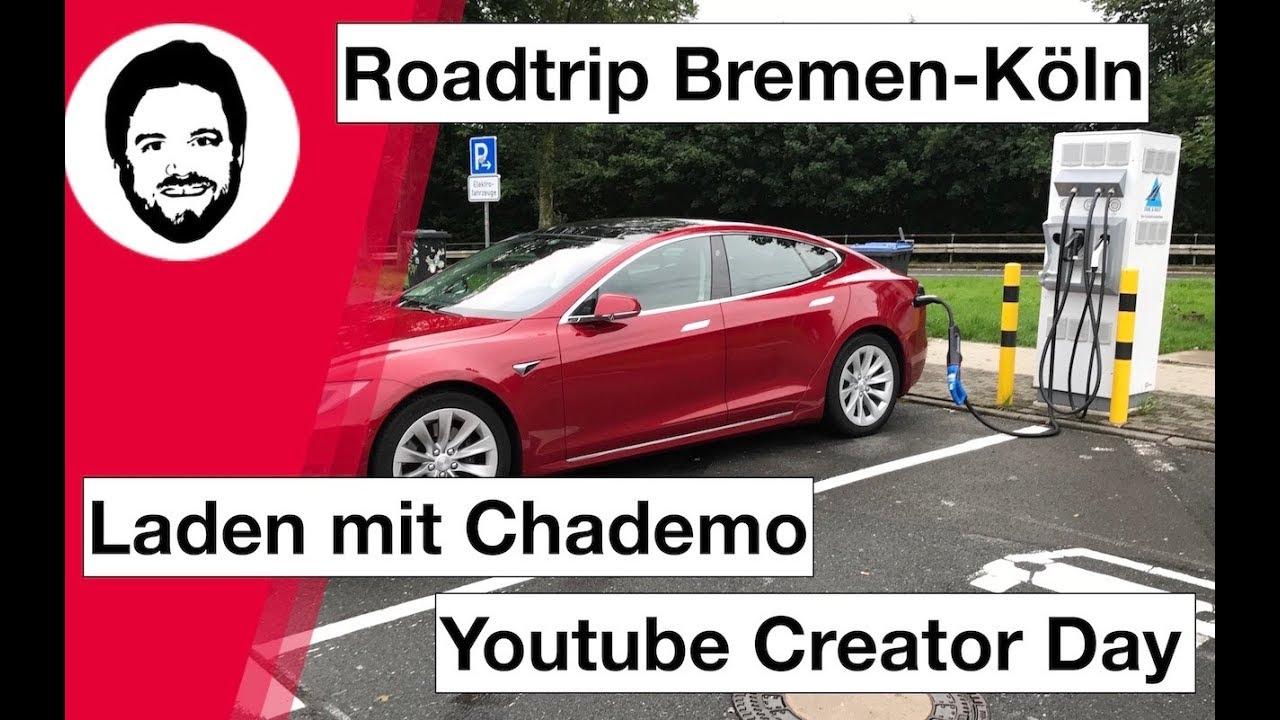 Tesla Roadtrip Bremen Köln Zum Youtube Creator Day #YTCreatorDayCGN