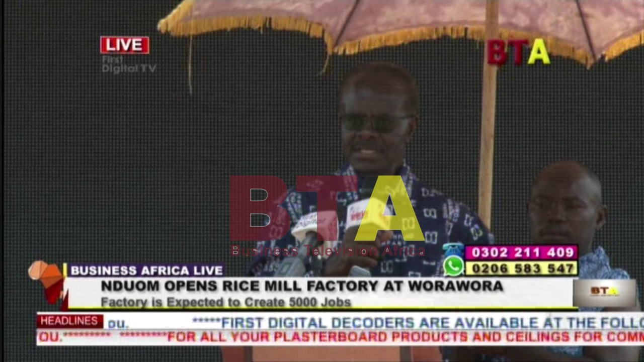 Newly opened Worawora rice factory with Dr. Nduom