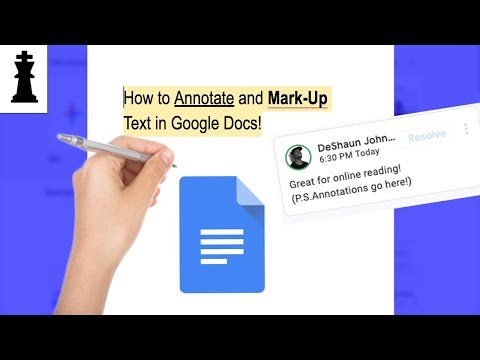 How to Annotate and Mark Up Text in Google Docs