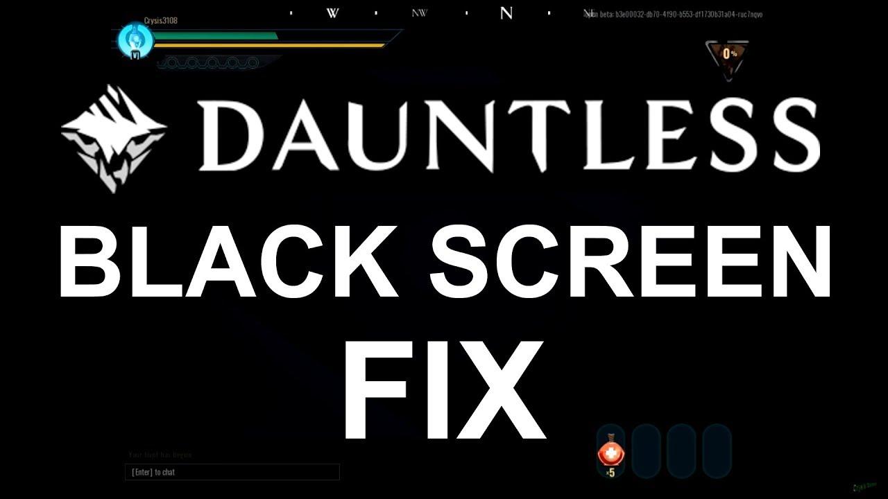 Dauntless BLACK SCREEN FIX Intel HD Graphics