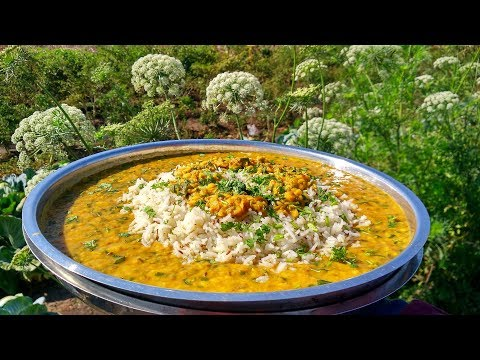 Dal Palak and Jeera Rice Recipe | Healthy Indian Food | Indian village Recipes