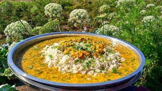 Dal Palak and Jeera Rice Recipe |  Indian village Recipes By Nikunj Vasoya