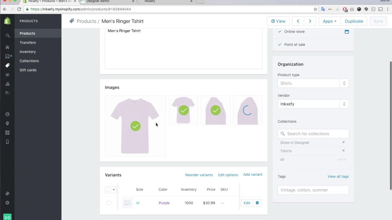 How to add product in Shopify admin: With product color ...
