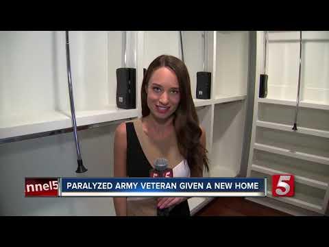 Paralyzed veteran given a custom home