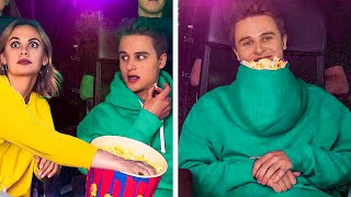 HOW TO SNEAK FOOD INTO THE MOVIES    Genius Hacks For Your Life by 123 Go! Gold