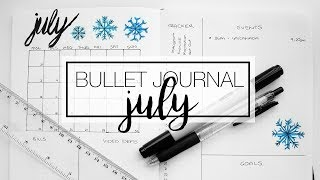 July Bullet Journal - Plan & Organise With Me