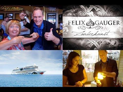 Streetmagic & Close Up Magie auf AIDA mar mit Felix Gauger