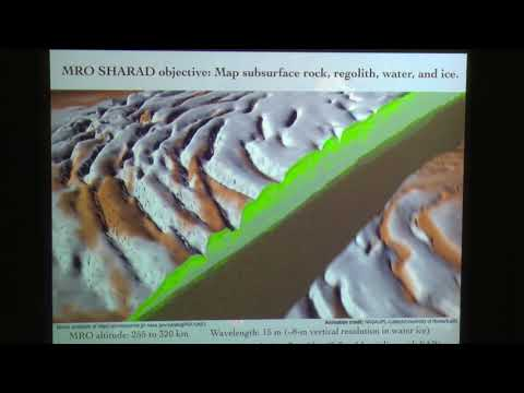 Subsurface Sounding on Mars and the Search for Water Ice