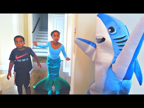 Thumbnail: Bad Baby Shark ATTACKS Mermaid - Shiloh and Shasha - Onyx Kids