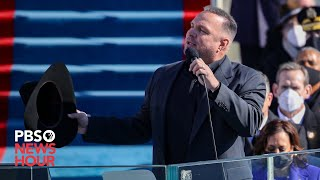 """Garth brooks sang """"amazing grace"""" outside the u.s. capitol on jan. 20, after joe biden was sworn in as nation's 46th president.the country music star joi..."""