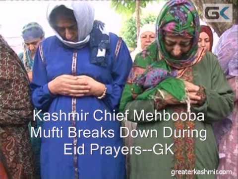 CM Mehbooba Breaks Down During Eid Prayers
