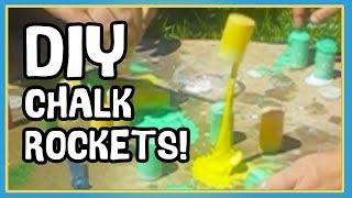 EASY KIDS SCIENCE PROJECT - DIY ROCKETS - CHALK ROCKETS!