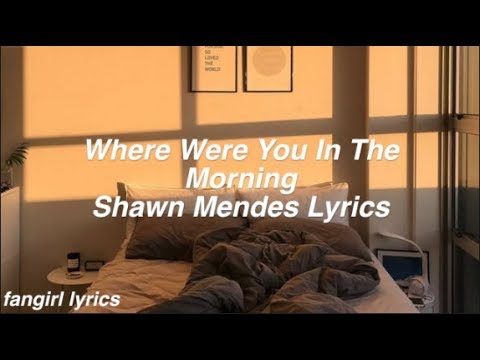 Where Were You In The Morning || Shawn Mendes Lyrics