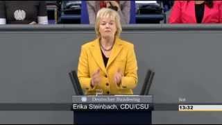 Steinbach: Zuwanderungsstrom stoppen, Versorgung vor Ort sichern, Grenzregime implementieren