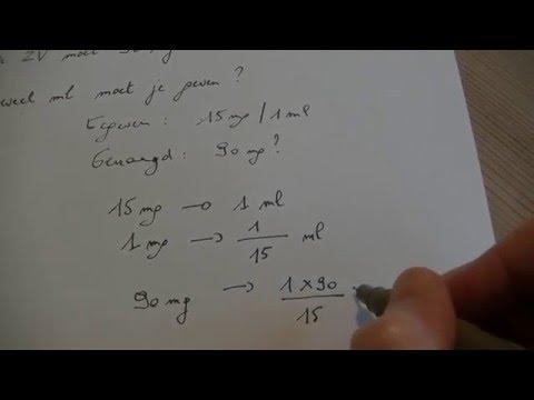 Procenten naar mg per ml doovi for Trap berekenen formule