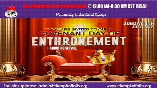 Covenant Day of Enthronement, July 8, 2018