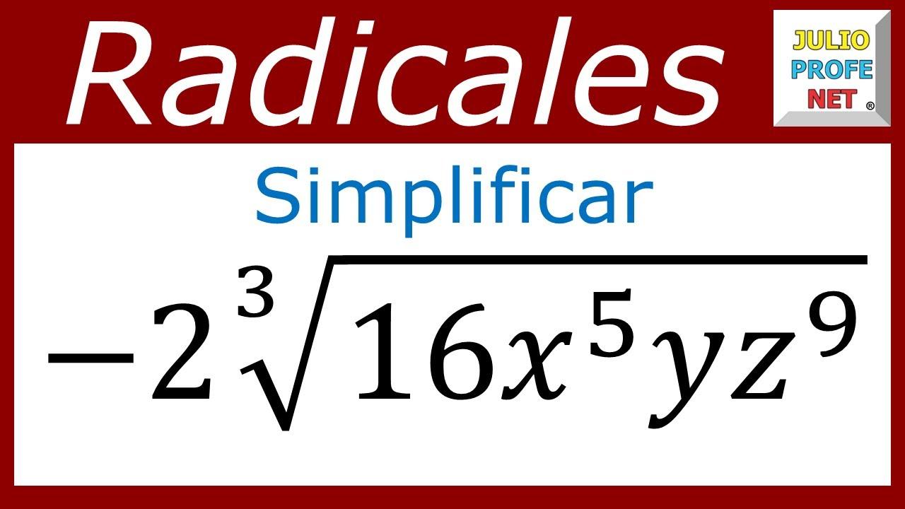SIMPLIFICACIÓN DE EXPRESIONES CON RADICALES - Ejercicio 3