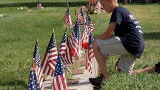 California boy becomes pied piper of patriotism