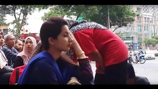 zakiah-Sentuhan buskers feat Amir Percussion,awek cun hindustan layann