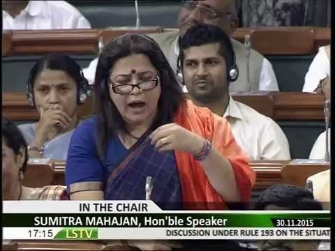 Smt. Meenakshi Lekhi speech in Lok Sabha on debate on Intolerance: 30.11.2015