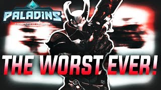 The WORST Paladins Player In Existence....(Paladins Funny Moments)