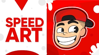 SPEED ART LOGO ILUSTRADO PARA @alexius_tv // DISEÑO HECHO EN ANDROID CON AUTODESK SKETCHBOOK [Gio]