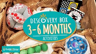 Montessori activities 3-6 months - Discovery Box!