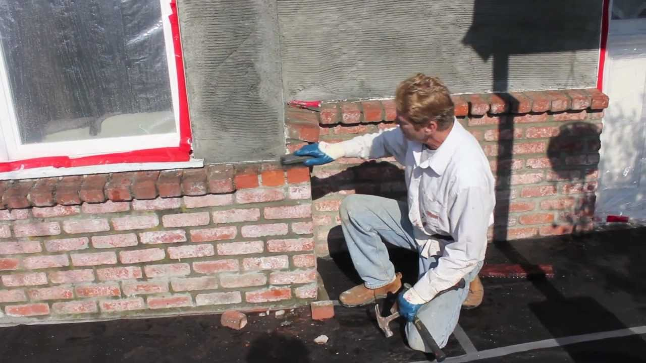 Stucco Brick Walls Youtube