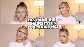 EASY AND QUICK EVERYDAY HAIRSTYLES FOR SHORT HAIR