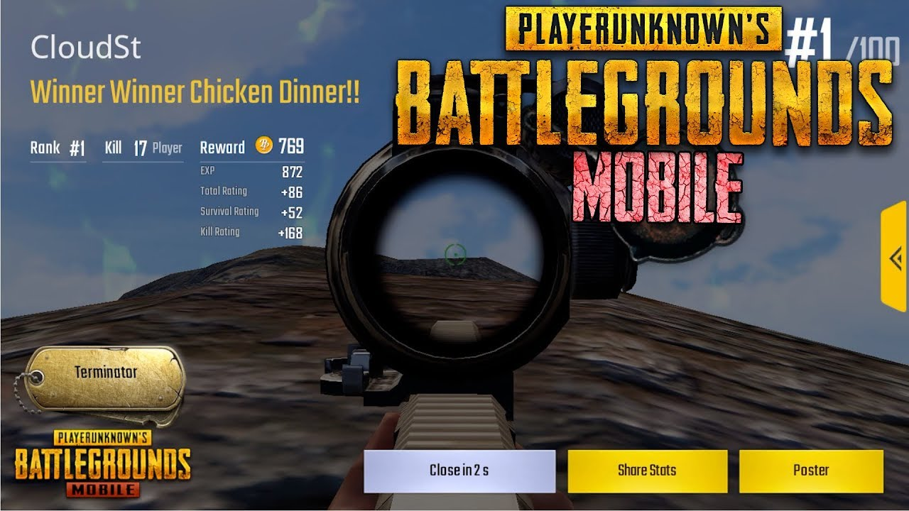 Pubg Mobile 17 Bot Kills Chicken Dinner Let S Play
