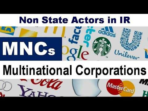 MNCs : Multinational Corporations - Non State Actors in IR (Hindi)