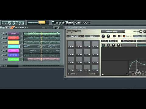 MODUL SAMPLING via FL STUDIO lagu Dangdut DINDING KACA (karaoke) by DAFA