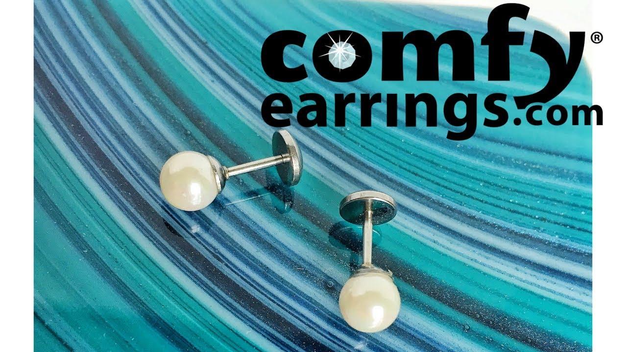 Flat Back Pearl Earrings From Comfyearrings