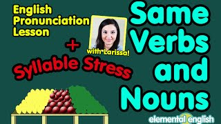 Same Verbs and Nouns + Syllable Stress